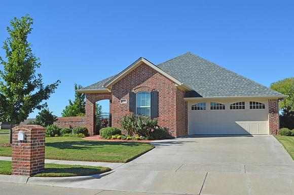 Bungalow, Craftsman, Ranch, Traditional House Plan 56564 with 3 Beds, 2 Baths, 2 Car Garage Elevation