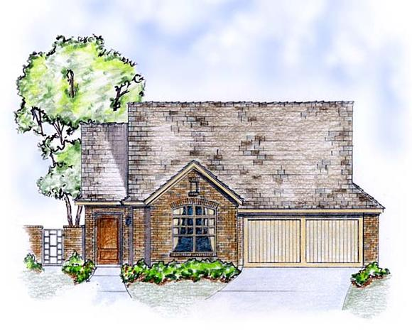 Cottage, European, Traditional House Plan 56568 with 3 Beds, 2 Baths, 2 Car Garage Elevation