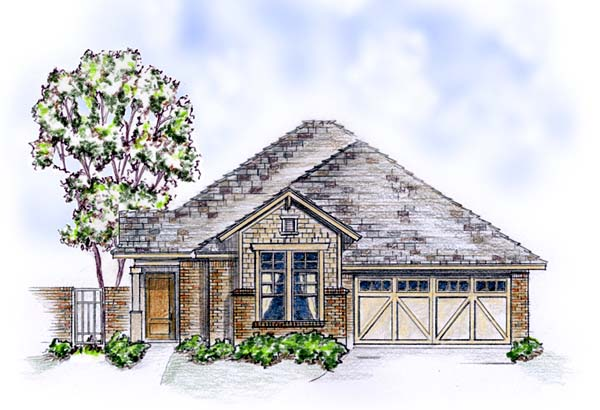 Elevation of Craftsman   European   Traditional   House Plan 56569