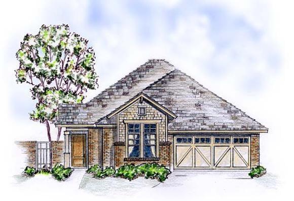 Craftsman, European, Traditional House Plan 56569 with 3 Beds, 2 Baths, 2 Car Garage Elevation