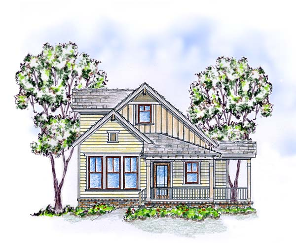 Elevation of Cabin   Cottage   Craftsman   Farmhouse  House Plan 56570