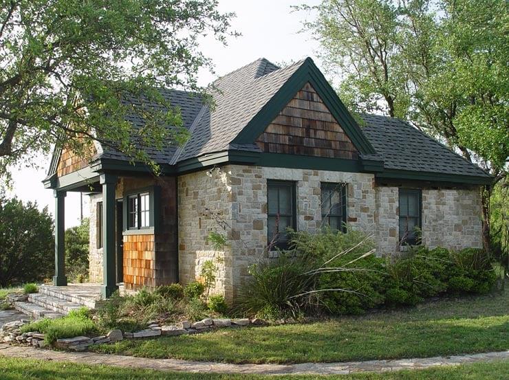 Cottage, Craftsman House Plan 56580 with 1 Beds, 1 Baths Elevation