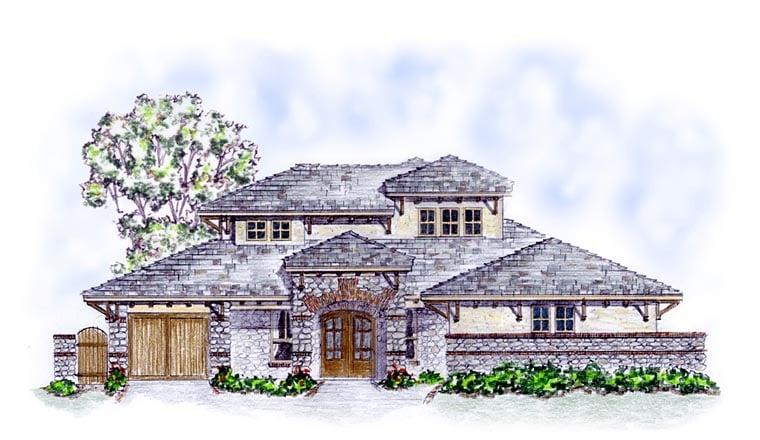 Craftsman European House Plan 56583 Elevation