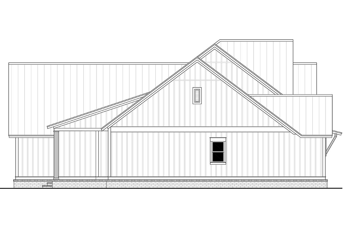 Country, Craftsman, Farmhouse Plan with 2553 Sq. Ft., 3 Bedrooms, 3 Bathrooms, 2 Car Garage Picture 3