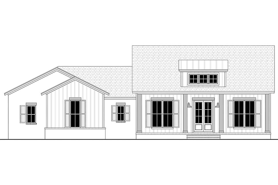 Country, Craftsman, Farmhouse, Traditional House Plan 56703 with 3 Beds, 3 Baths, 2 Car Garage Picture 3