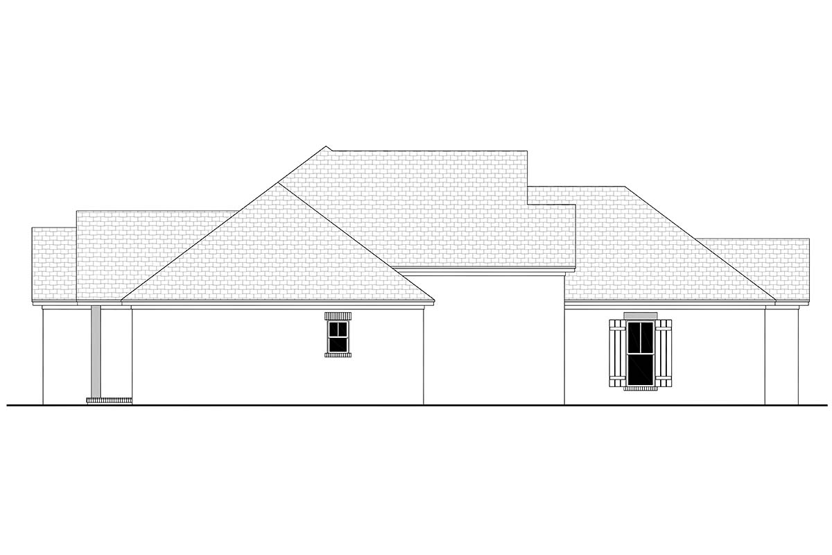 Country, French Country, One-Story, Traditional House Plan 56709 with 3 Beds, 2 Baths, 2 Car Garage Picture 2