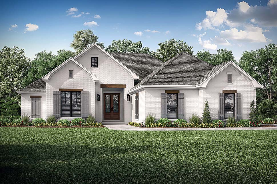 Country, French Country, One-Story, Traditional House Plan 56709 with 3 Beds, 2 Baths, 2 Car Garage Picture 4