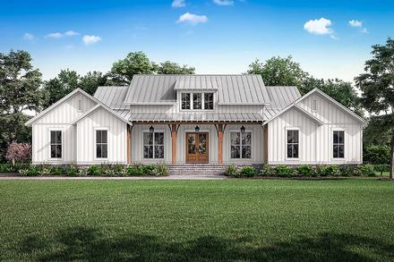 Country, Farmhouse, Southern, Traditional House Plan 56718 with 3 Beds, 3 Baths, 2 Car Garage