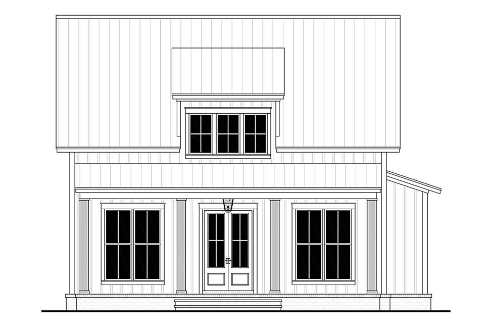 Cottage, Country, Farmhouse House Plan 56721 with 2 Beds, 2 Baths Picture 3