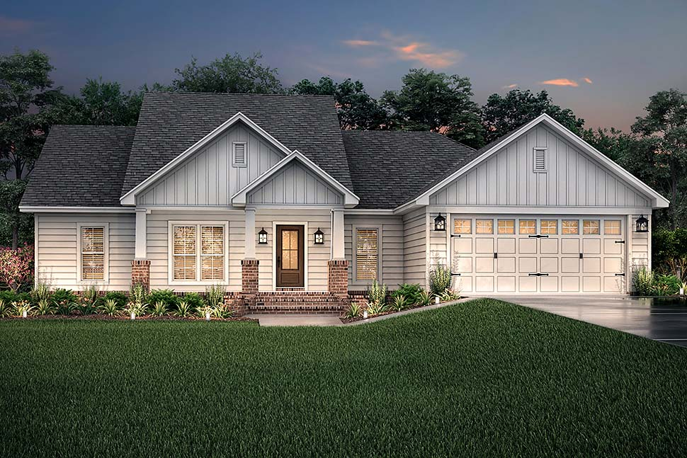 Cottage, Country, Craftsman, Traditional House Plan 56902 with 3 Beds, 2 Baths, 2 Car Garage Picture 2