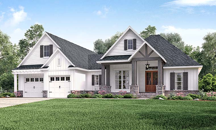 Country Craftsman Southern Traditional House Plan 56911 Elevation