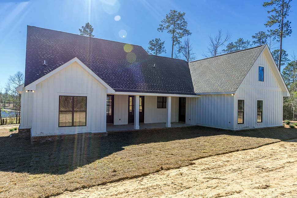 Country, Craftsman, Farmhouse House Plan 56912 with 3 Beds, 2 Baths, 2 Car Garage Rear Elevation
