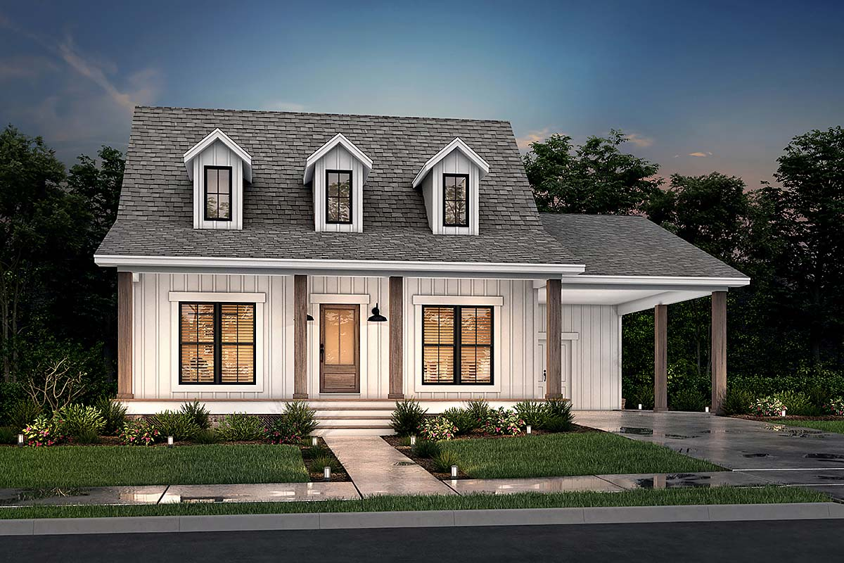 Cabin Country Southern House Plan 56932 Elevation