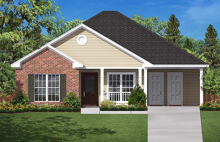 Country Ranch Traditional House Plan 56939 Elevation