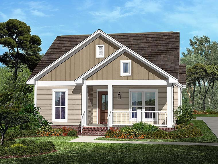 Country Craftsman Traditional House Plan 56940 Elevation