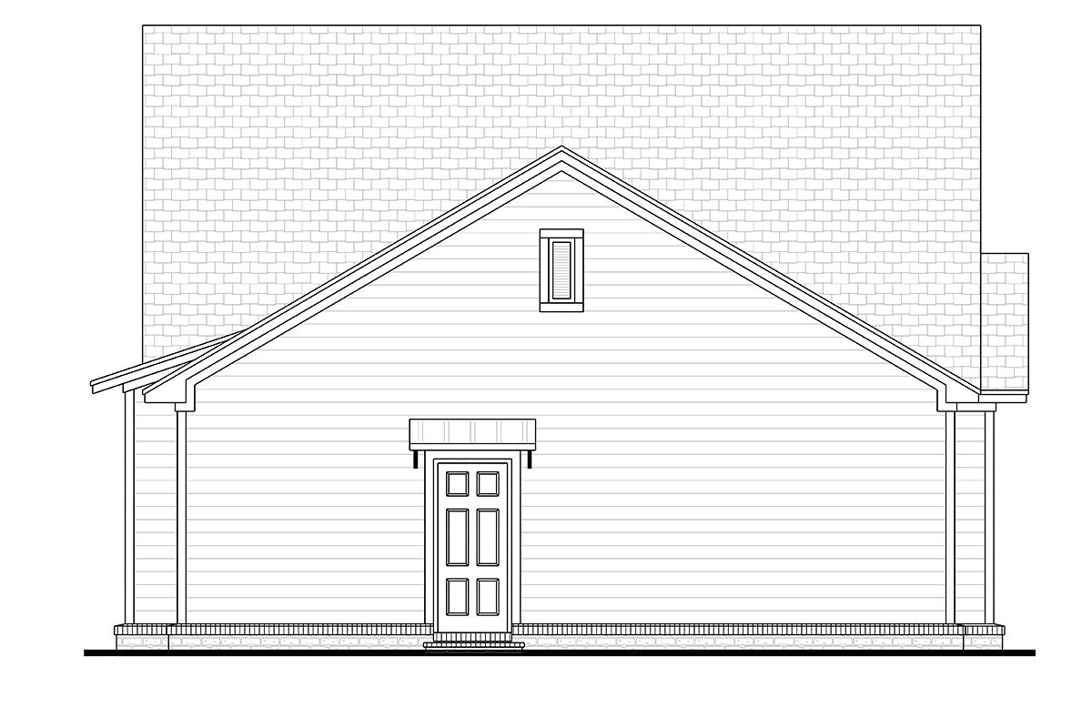 Cottage Country Craftsman House Plan 56948 Rear Elevation