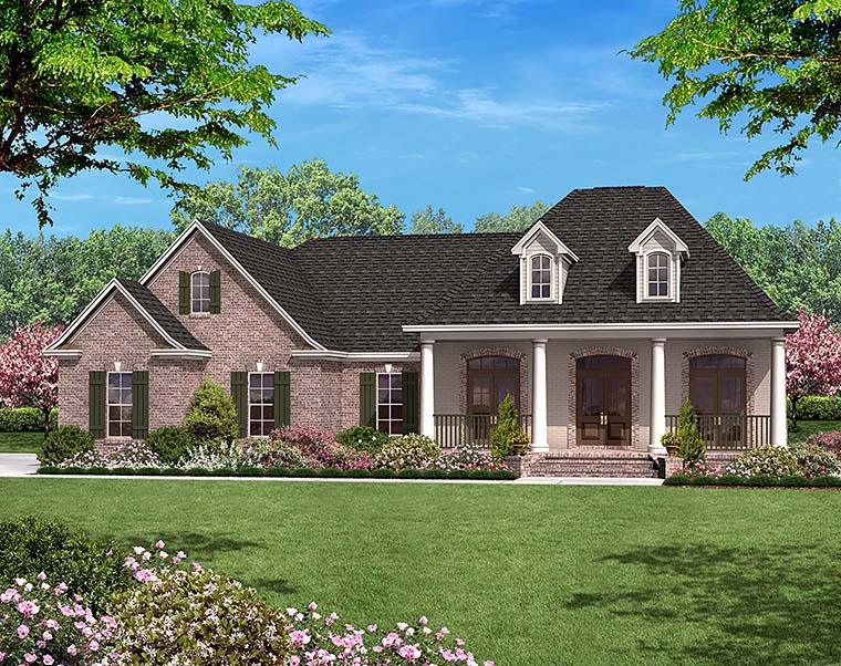 European French Country House Plan 56952 Elevation