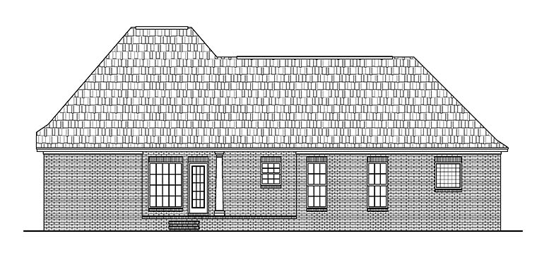 European French Country House Plan 56952 Rear Elevation