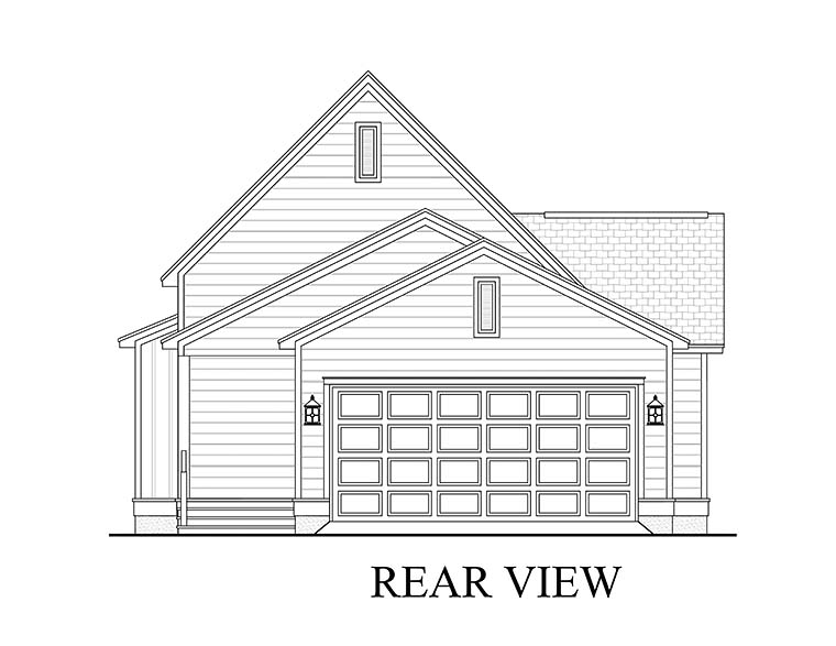Cottage Country Traditional House Plan 56959 Rear Elevation