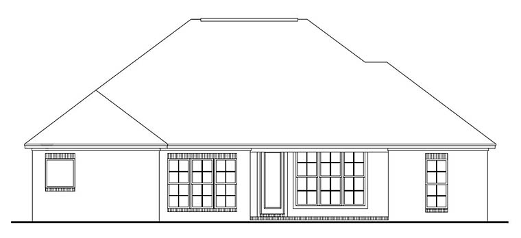 Country European French Country House Plan 56968 Rear Elevation
