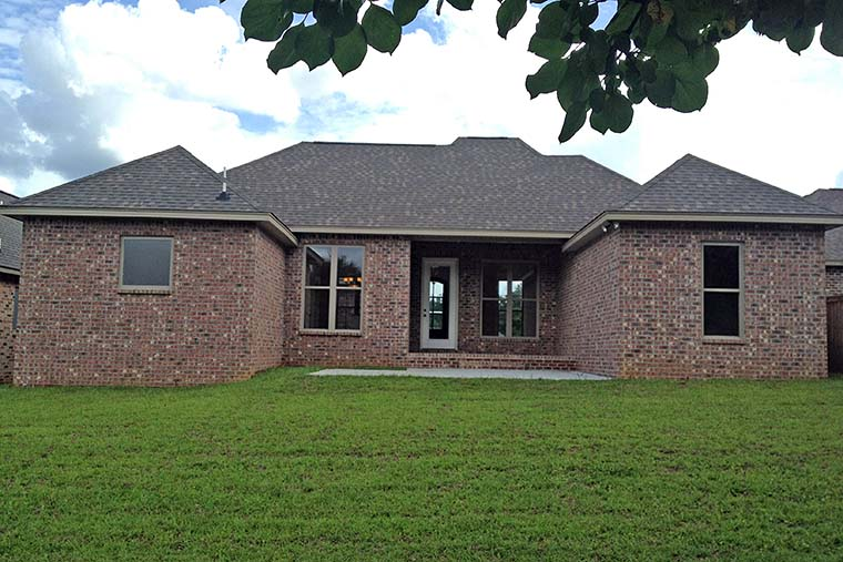 Country European French Country House Plan 56977 Rear Elevation