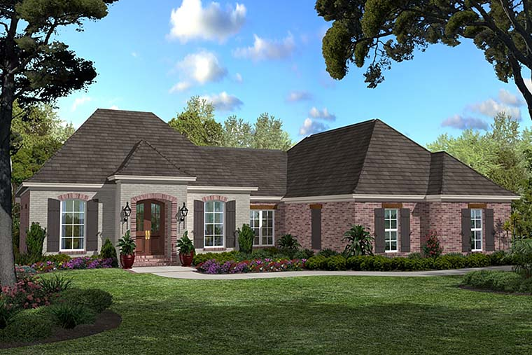 Country French Country Southern House Plan 56985 Elevation