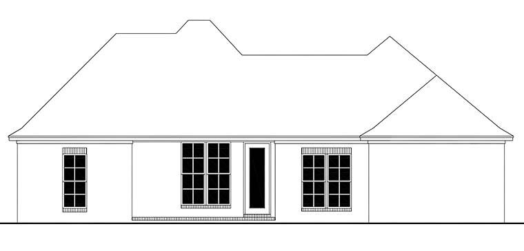 Country European French Country House Plan 56989 Rear Elevation
