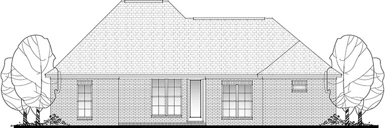 Country French Country Traditional House Plan 56991 Rear Elevation