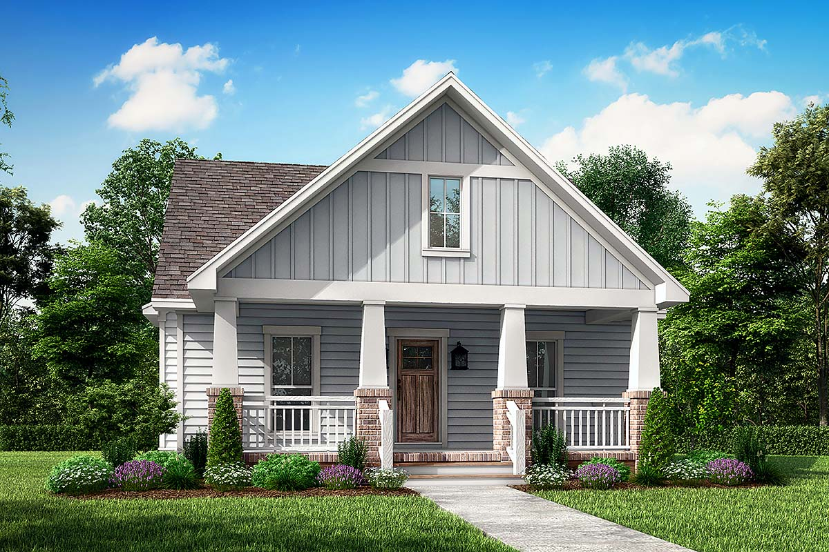 Cottage Country Craftsman House Plan 56996 Elevation