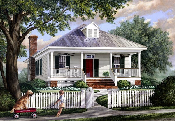 Colonial Southern Traditional House Plan 57065 Elevation