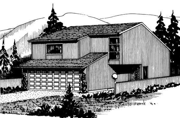 House Plan 57354 Elevation