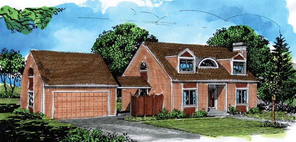 Cape Cod House Plan 57363 Elevation