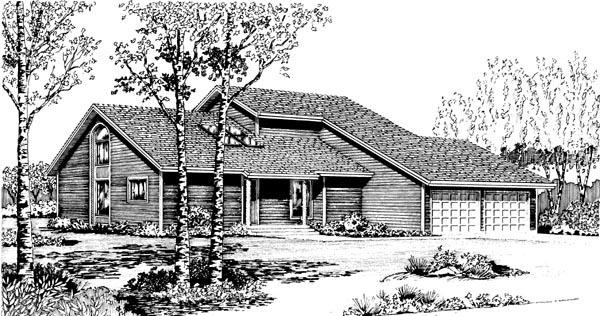 House Plan 57364 Elevation