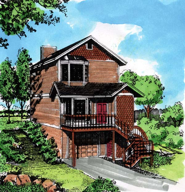 House Plan 57366 Elevation