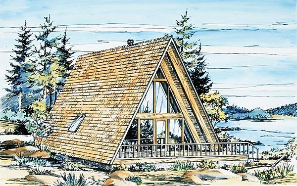 a frame house plan 57368 elevation