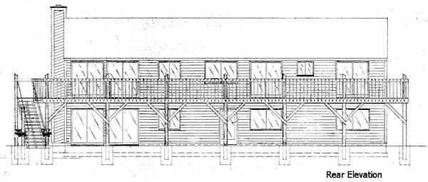 House Plan 57378 Rear Elevation