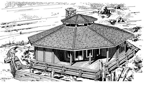 House Plan 57393 Elevation