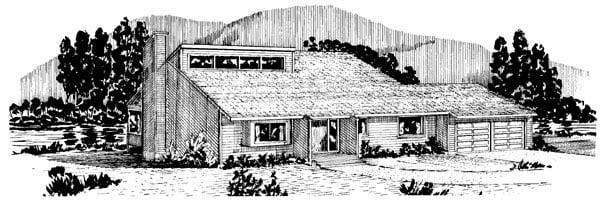 Cabin House Plan 57407 Elevation