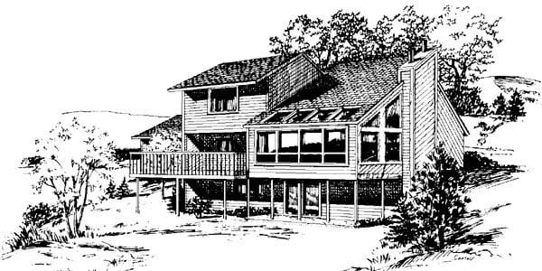 Cabin House Plan 57407 Rear Elevation