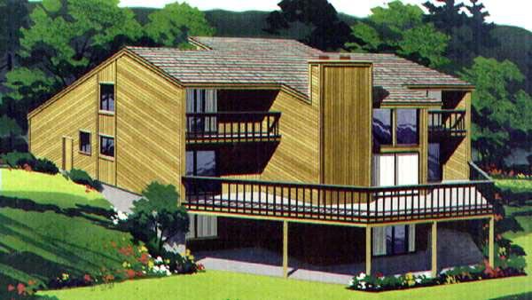 NarrowLot House Plan 57417