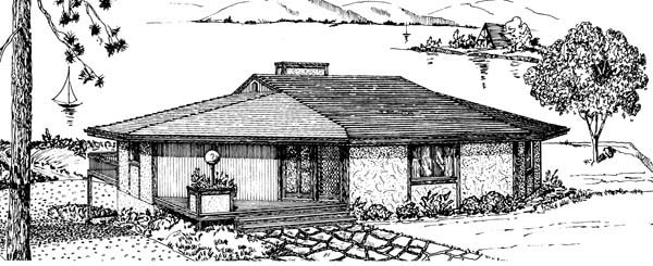 House Plan 57440 with 3 Beds, 2 Baths, 2 Car Garage Picture 1