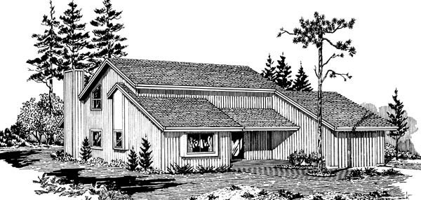 Contemporary House Plan 57447 Elevation