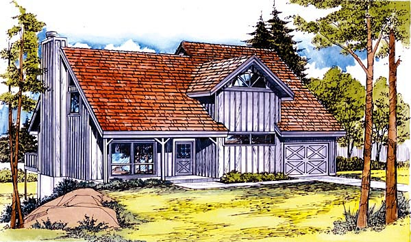 Country House Plan 57454 Elevation