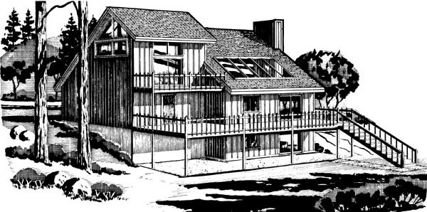 Country House Plan 57454 Rear Elevation