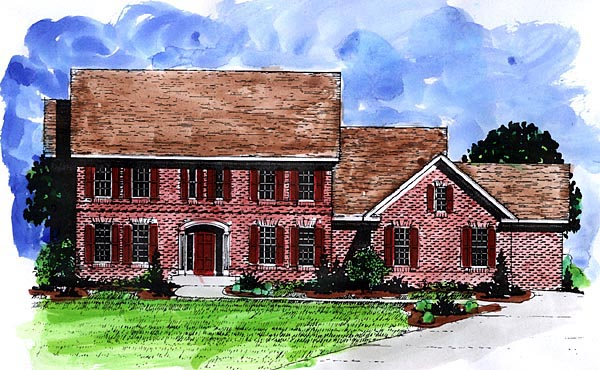 Colonial European House Plan 57482 Elevation