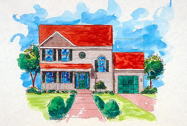Country Traditional House Plan 57485 Elevation