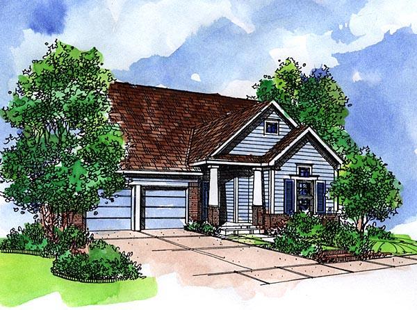 Bungalow Craftsman House Plan 57521 Elevation