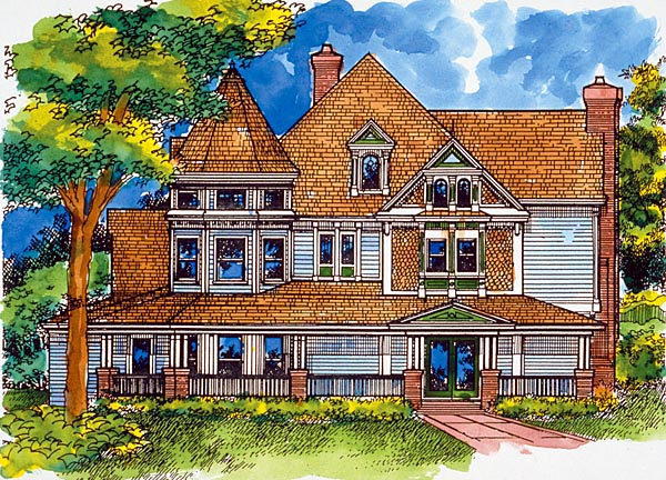 Country Victorian House Plan 57524 Elevation