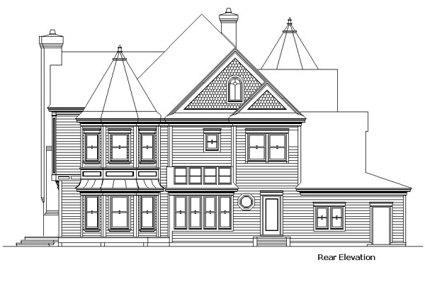 Country Victorian House Plan 57524 Rear Elevation