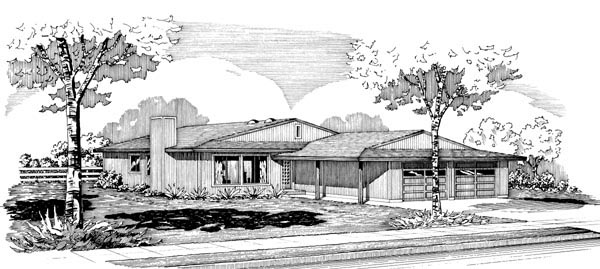Ranch House Plan 57530 Elevation